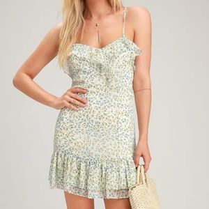 NWT Lulu's Exclusive White Floral Dress